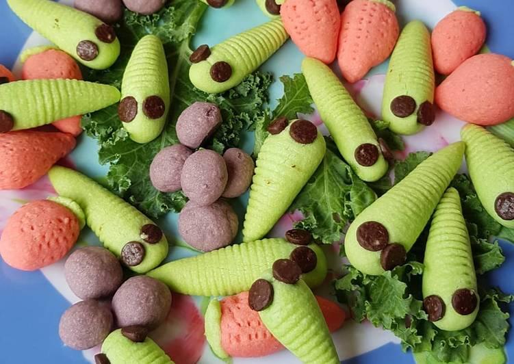 Catterpilar cookies resep by mbak Ninik FN