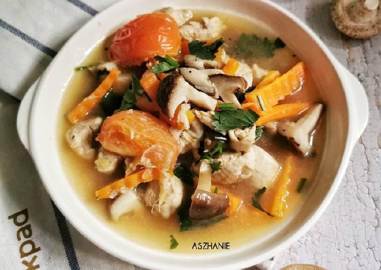Sup Ayam cendawan - velavinkabakery.com