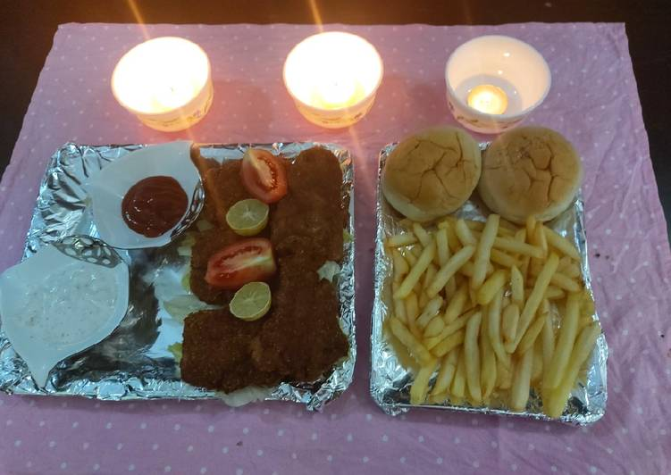 Recipe of Award-winning Fish and chips/ famous UK restaurants recipe /specialy for eid