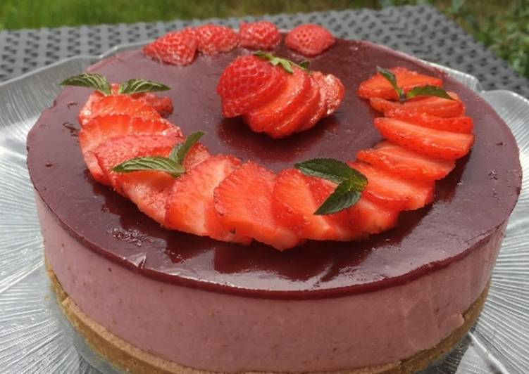 Cheesecake aux fraises et au skyr