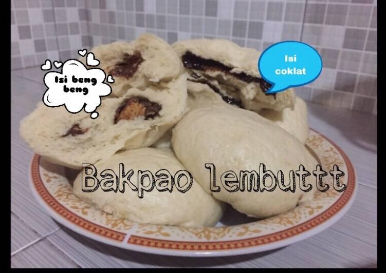 resep cara buat Bakpao lembut isi coklat dan isi beng beng !?? No mixer