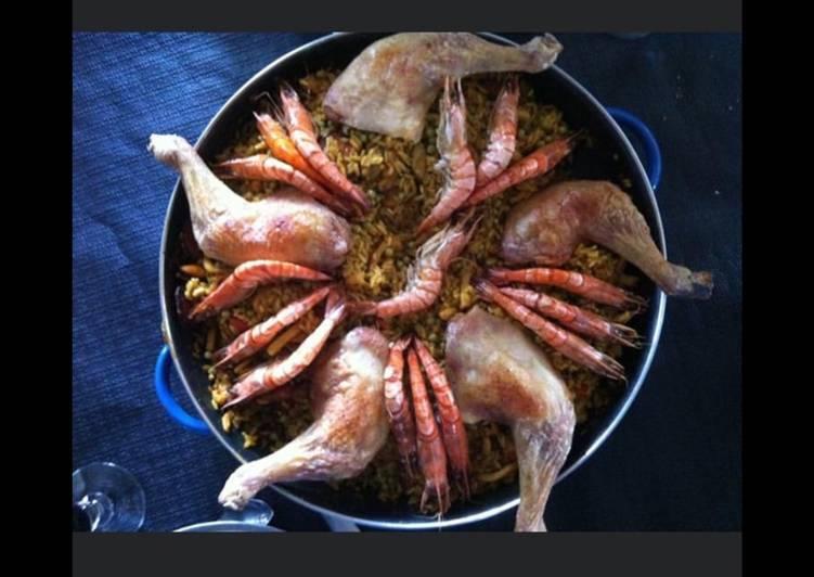 Comment Cuisiner Paella poulet et fruits de mer