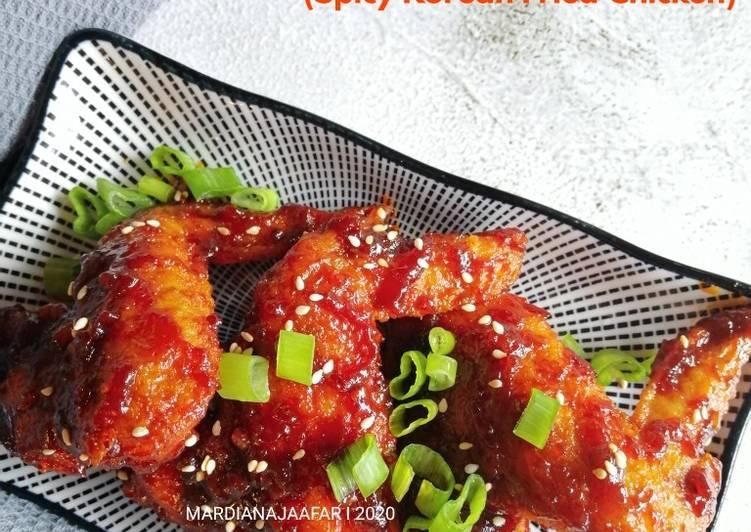 Yangnyeom Chicken (Ayam Goreng Pedas Korea) - velavinkabakery.com