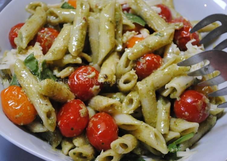 Steps to Make Homemade Pesto Pasta Recipe