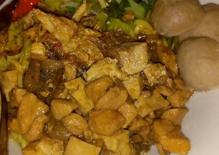 Recipe: Yummy Mie ayam jamur tahu