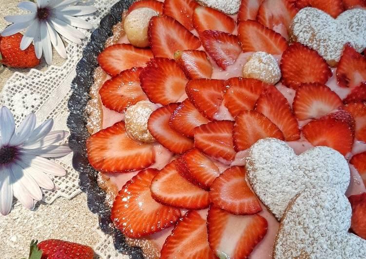 Ricetta Crostata alla fragola (con frolla veloce senza burro)