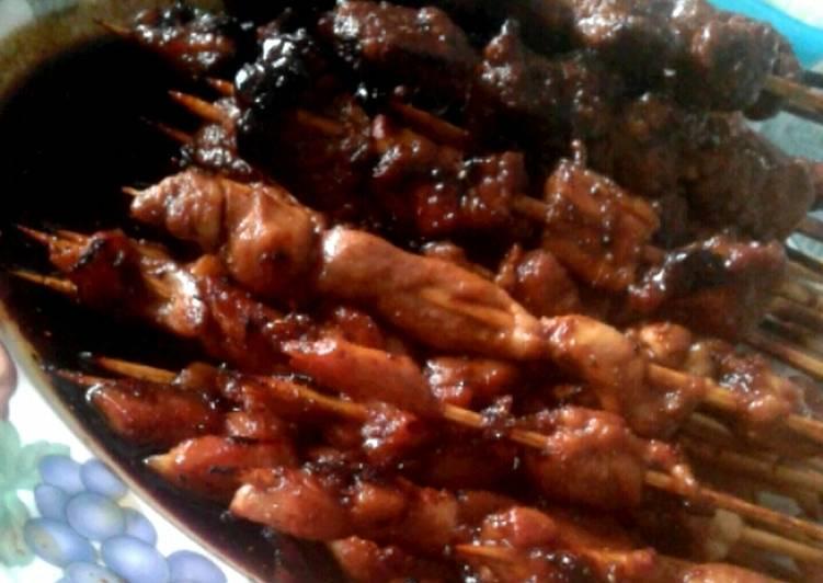 Sate Daging Sapi dan Ayam praktis