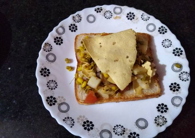 Healthy sprouts toast