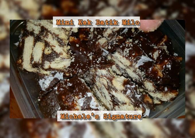 Bagaimana Membuat Mini Kek Batik Milo Anti Gagal