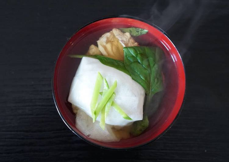 Ozoni, a new year soup with mochi