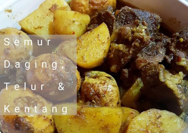 Semur Daging, Kentang & Telur (spesial bumbu Ngoh Hiong)