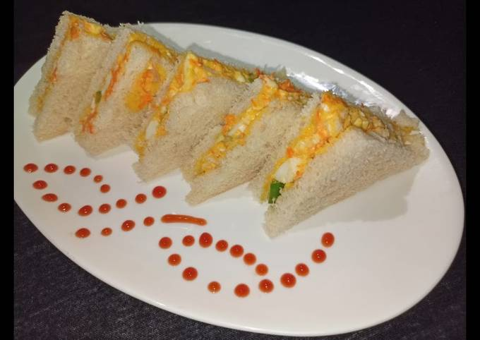 Recipe: Perfect Egg Mayo Sandwich | Snack Recipe | Egg Sandwich without toaster