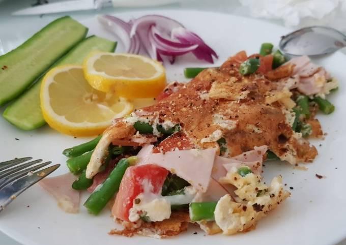 Healthy breakfast omelette