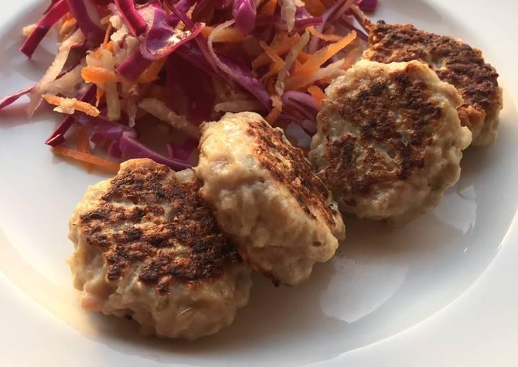 Recipe of Speedy Danish meatballs (Frikadeller) with coleslaw