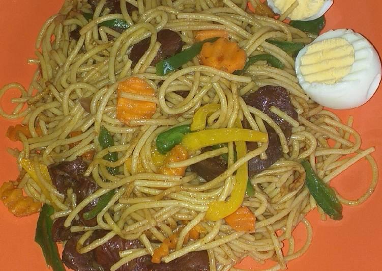 Stir fry pasta