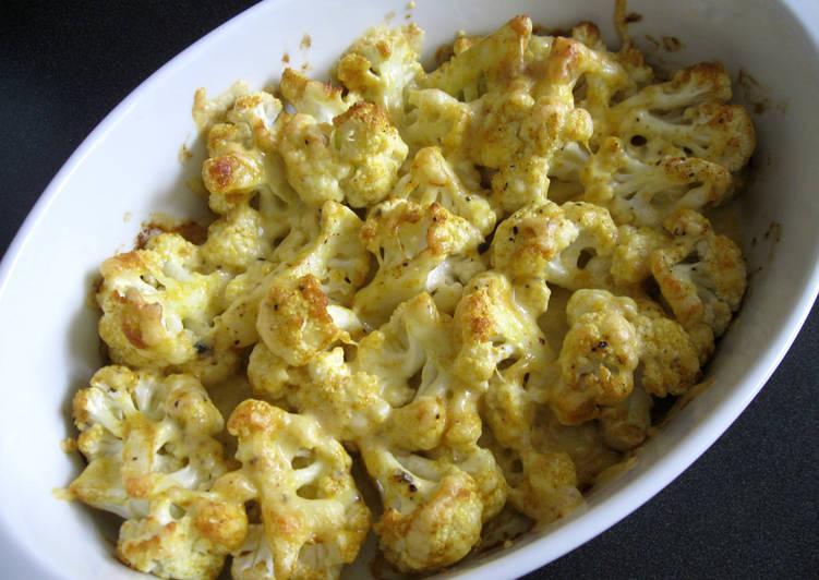 Cauliflower Curry Mayo Cheese Bake