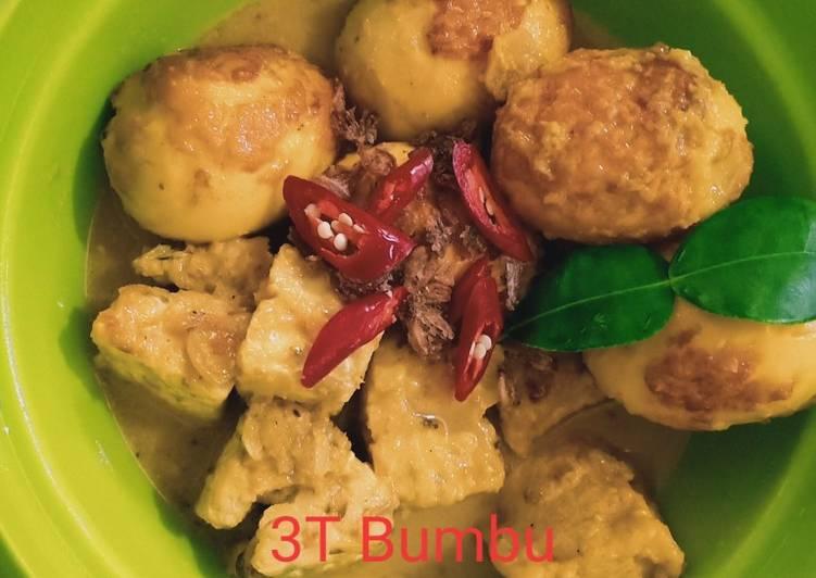 3T Bumbu Petis (telur~tahu~tempe)