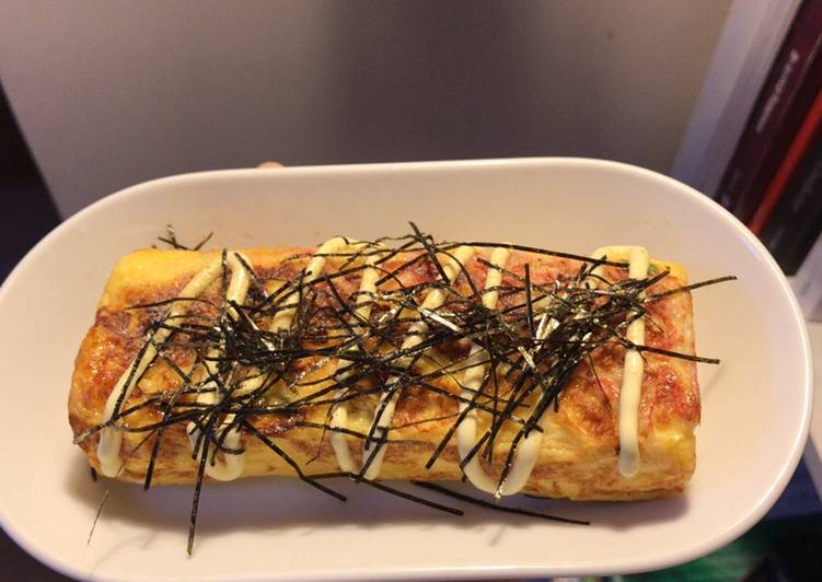 Japanese style egg roll (crab stick with salad dressing)