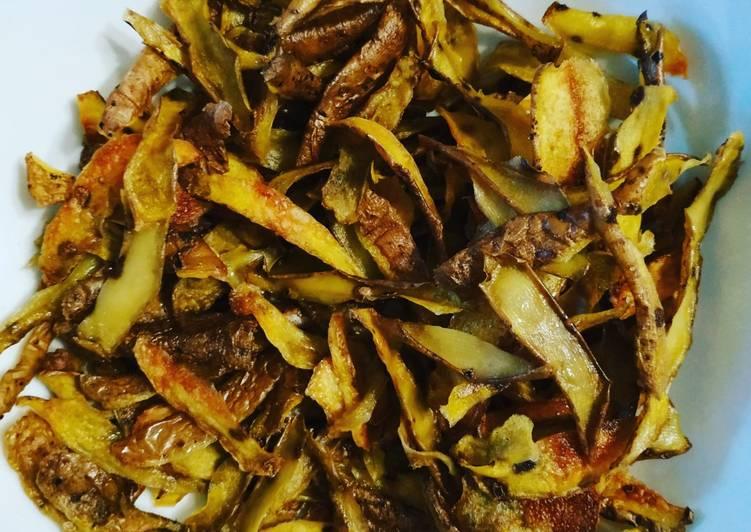 Chips d'épluchures de pommes de terre, navets & topinambours