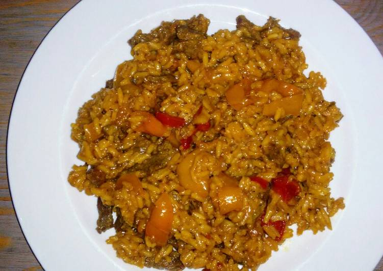 Pepper Steak & Rice