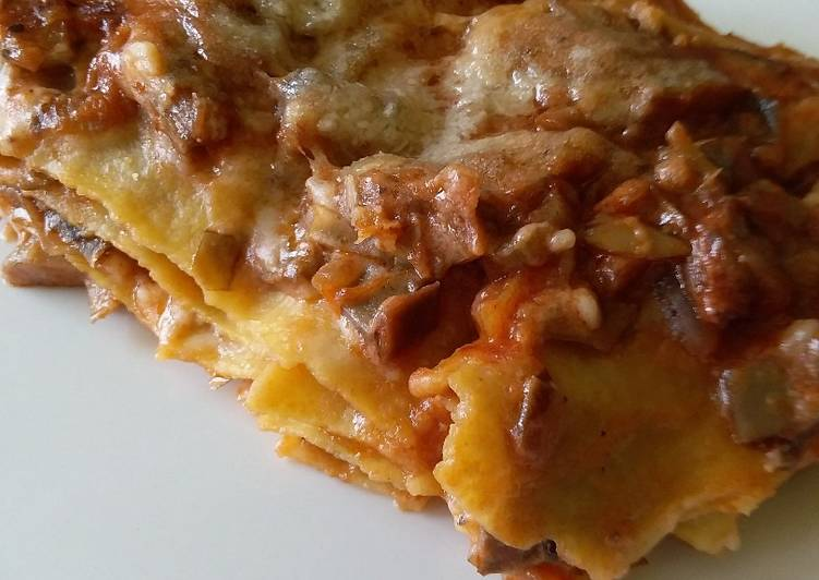 Lasagne with artichokes