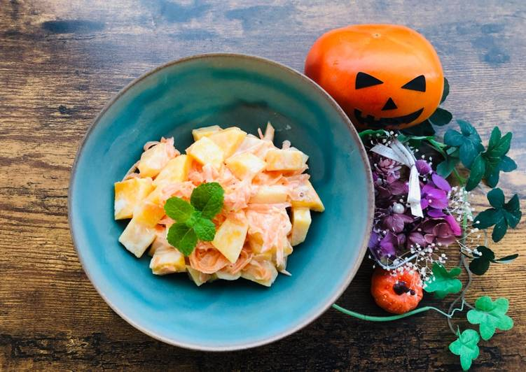 Living Greener for Better Health By Eating Superfoods Halloween Japanese Persimmon salad