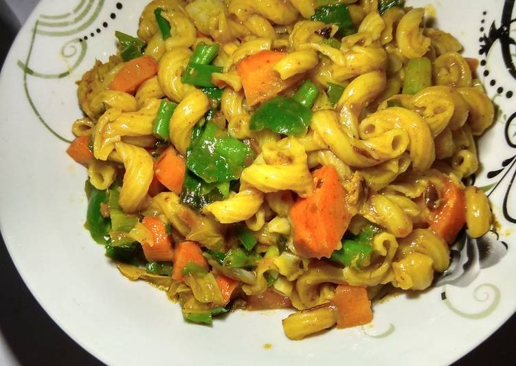 Recipe of Any-night-of-the-week Macaroni and vegetables