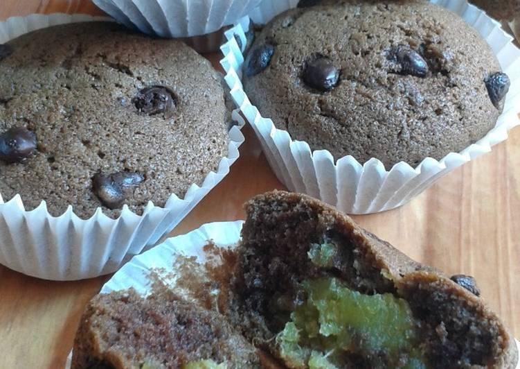 Cupcake coklat isi durian