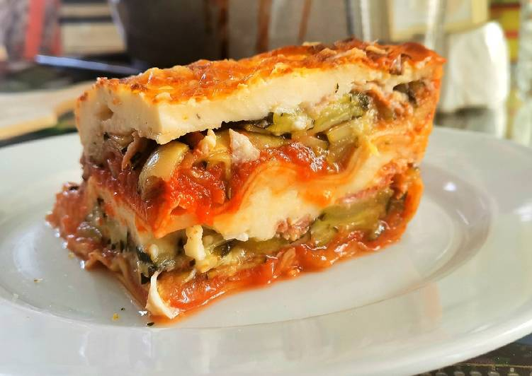 Comment Servir 🍴Lasagnes courgettes, parmesan, jambon de parme!! 🍴