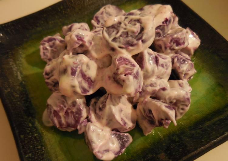 It's simple! Purple Sweet Potato Salad