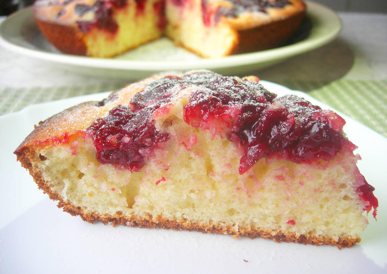вишневый пирог рецепт простой с фото времена фотоснимки можно