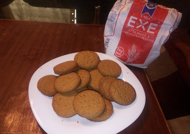 Recipe of Super Quick Homemade Ginger Digestive biscuits