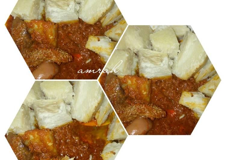 10 Minute How to Prepare Homemade Boiled yam and stew