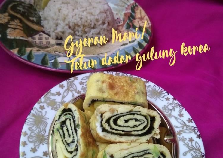 Resep Gyeran Mari (telur dadar gulung korea) Paling Gampang