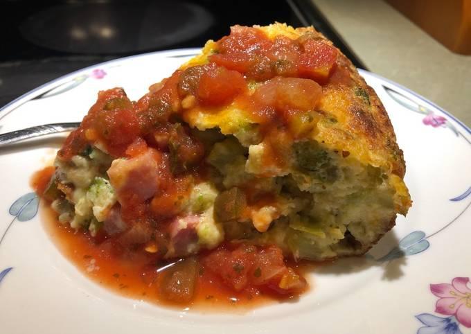 Spicy Ham and Broccoli 🥦 Quiche