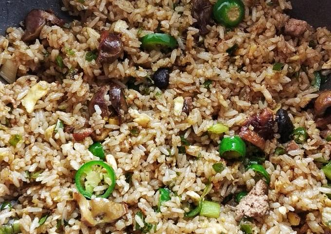 Nasi goreng hijau ati ampela