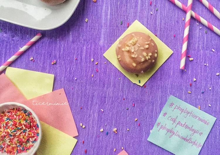Cara Mudah Masak: Lavender Glazed Doughnut #phopbylinimohd #batch18  Dirumah
