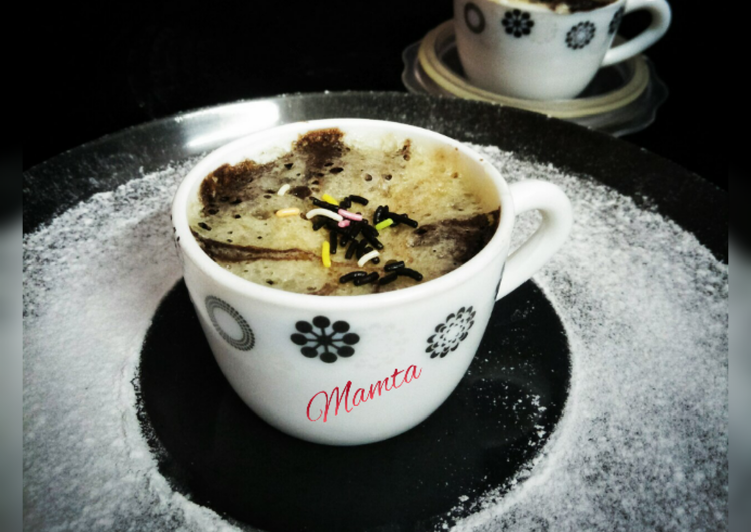 Recipe of Favorite Choco-Vanilla Mini Mug Cake