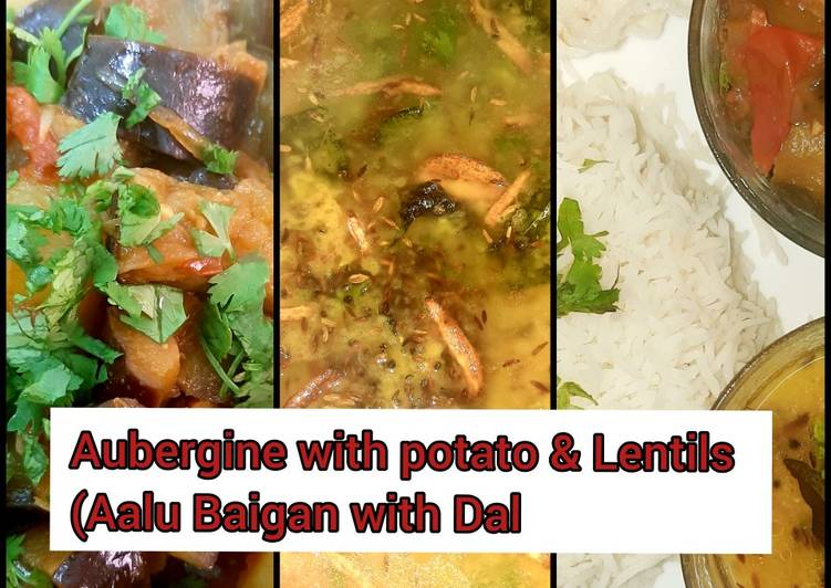 How to Cook Tasty Aubergine with potato & lentils (Aalu Baigan dal) #mommasrecipe