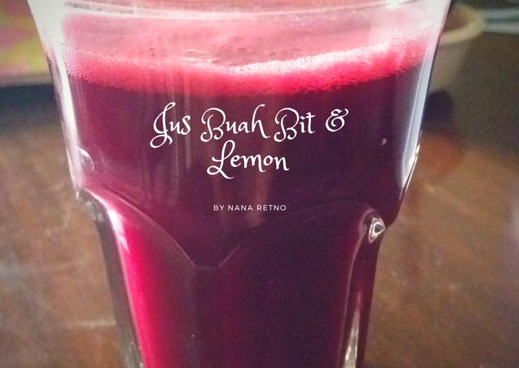 Jus Buah Bit & Lemon