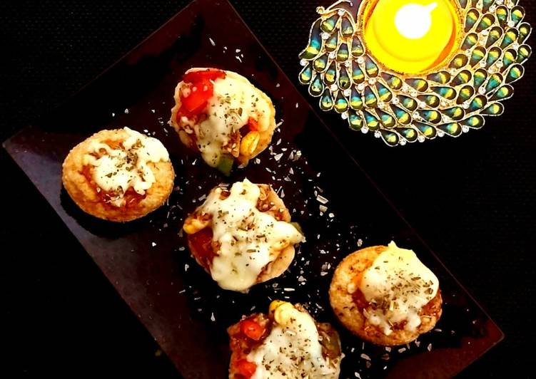 30 Minute Dinner Ideas Blends Sev puri Pizza Bites