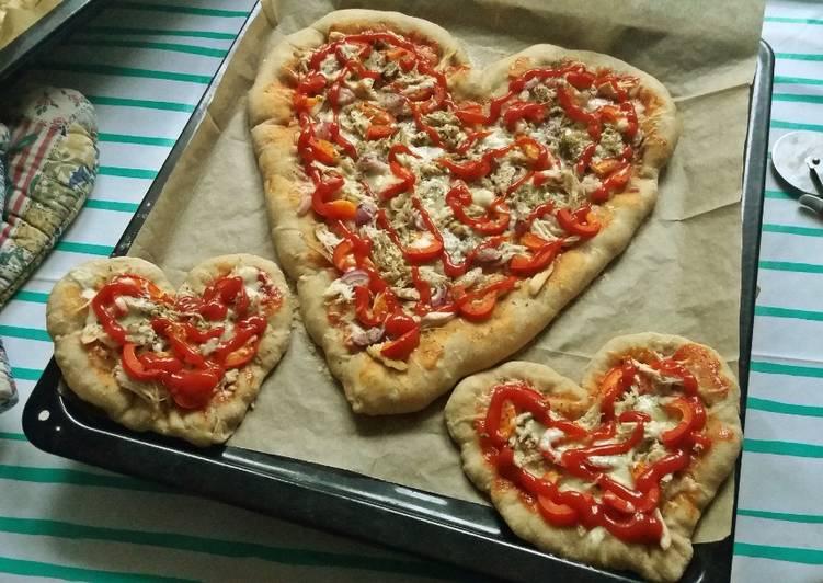 WALENTYNKOWA PIZZA w kształcie SERCA