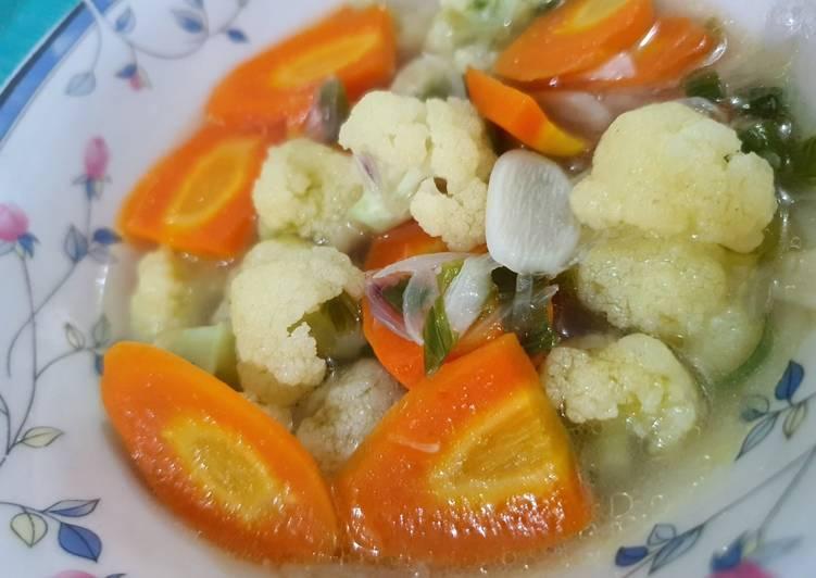 Resep Unggulan Sayur Kembang Kol Wortel No Msg No Salt Untuk Anak 2 Praktis Resep Masakanku
