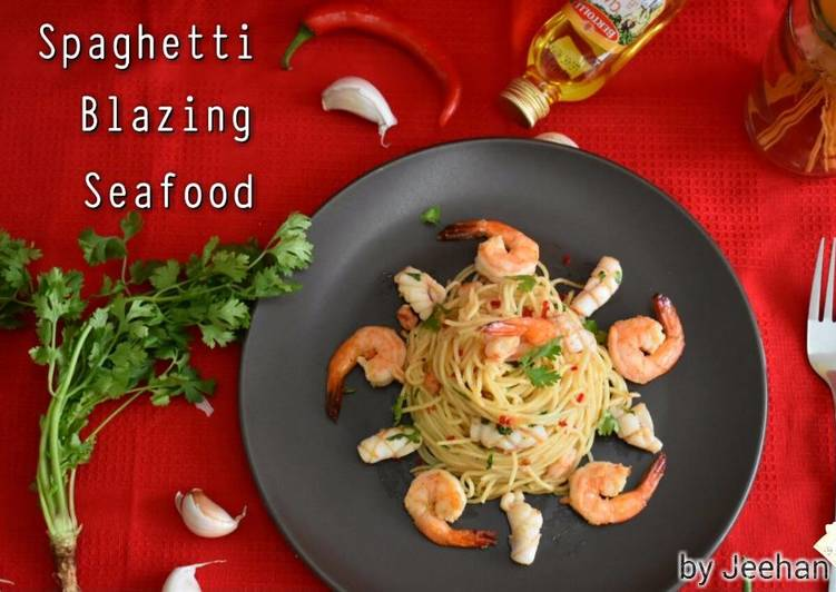 Spaghetti Pedas🍝🍝🍝 Makanan Laut 🐙🐙🍤🍤