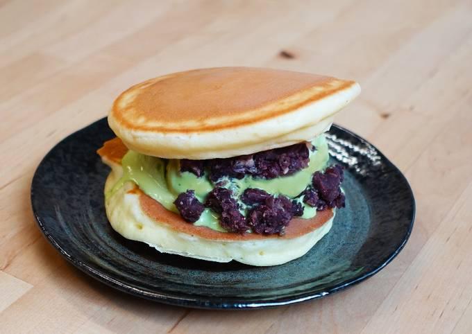 Recipe of Favorite Dorayaki Matcha Ice Cream With Red Beams☆ Dessert