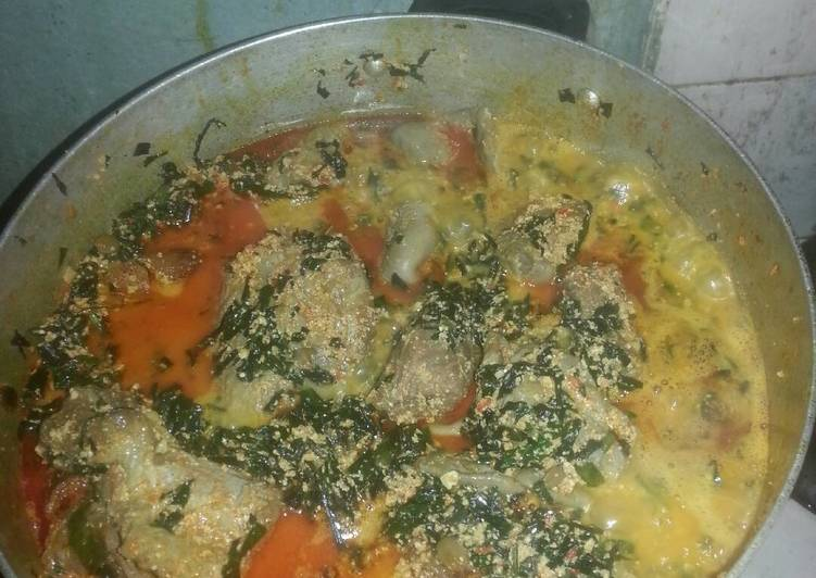 Steps to Make Quick Egusi Soup with Assorted Meat And stock Fish