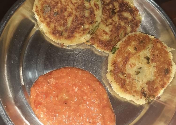 10 Minute Easiest Way to Prepare Homemade Farali aloo tikki with creamy tomato chutney