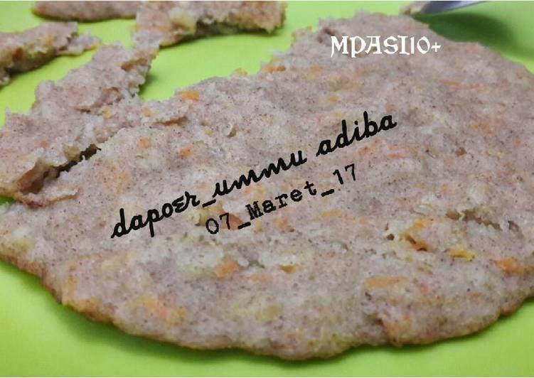 Pancake Pisang Wortel Macam Cikodok Pisang (MPASI10+)