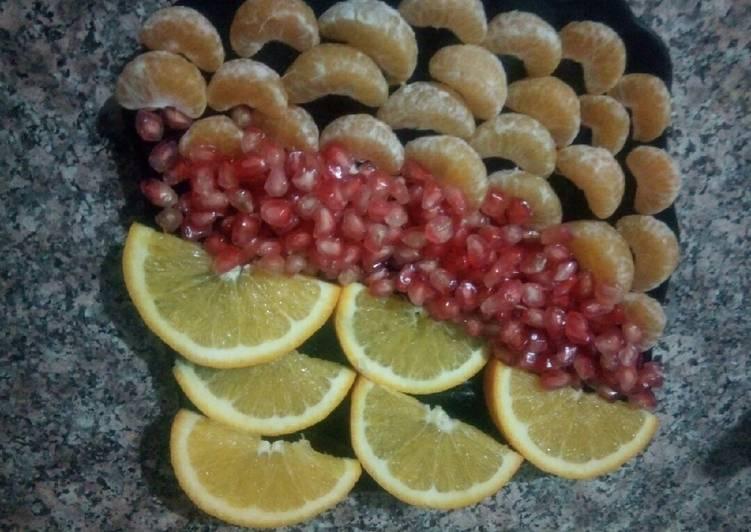 Fruit d'automne en assiette