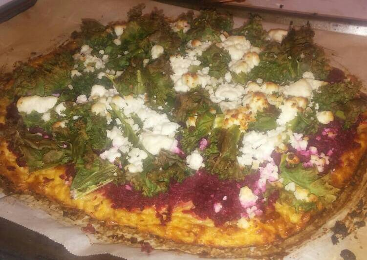 Recipe: Delicious Veggie Pizza: Yes…  it's a cauliflower crust!!